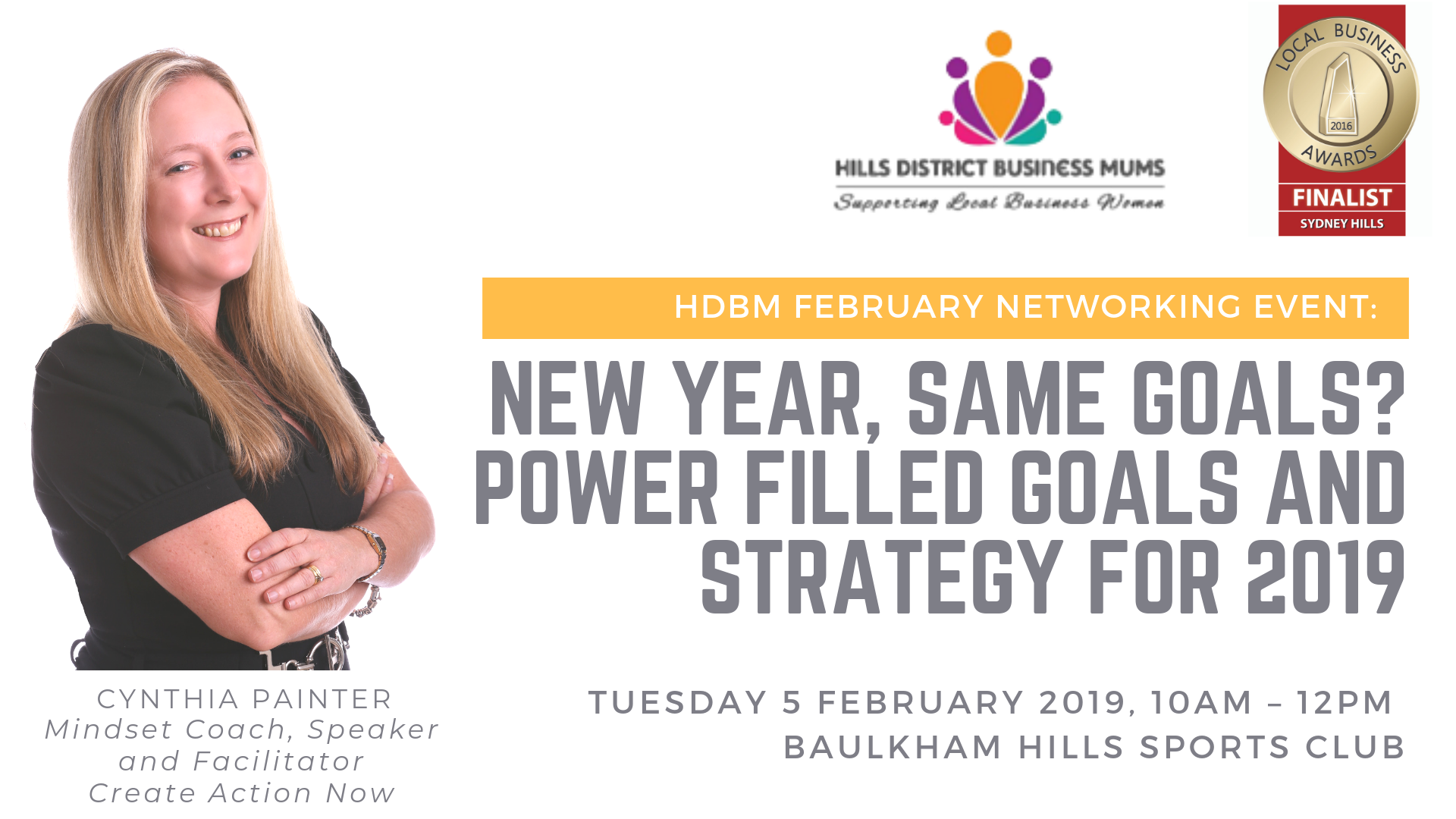 HDBM FEBRUARY NETWORKING EVENT_ New Year, Same Goals_ Power filled Goals and Strategy for 2019
